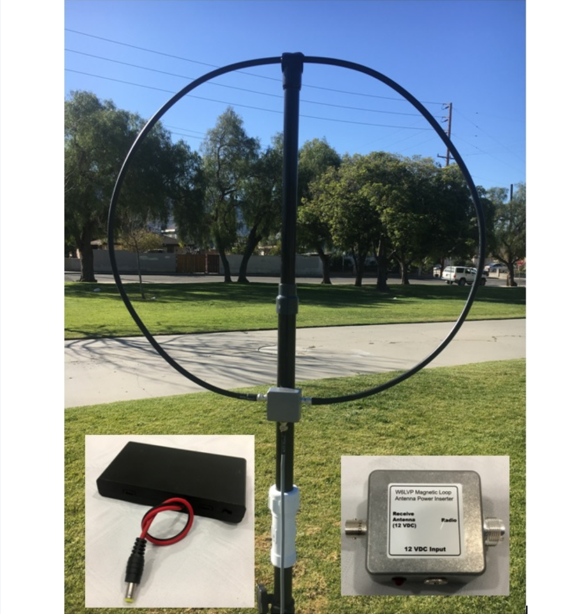 W6LVP Amplified Receive-Only Magnetic Loop Antenna – Portable Version